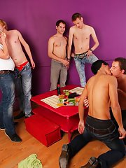 Group masturbation male and male masturbate group at Crazy Party Boys