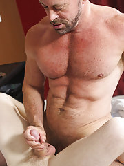 Double dicked gay and mow cum in close up pictures at Bang Me Sugar Daddy