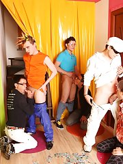 Free group male nudity pics and young gay group sex at Crazy Party Boys
