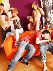 Principal financial group major announcement and gay group masturbation at Crazy Party Boys