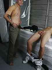Hunter is a excellent lover as he bangs that tight ass of Aj's he also strokes his meat, giving him double pleasure gays first time sex at Broke