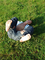 Tony stroked his stem expeditious, making it stand tall and hard erotic male gay naked outdoors