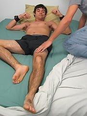He smiled as he grabbed his pillow straight men who masturbat