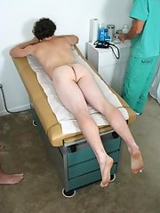 Dr. Luca took a sample and then moved on to asking Randy to get up on the table nasty group gay sex xxx