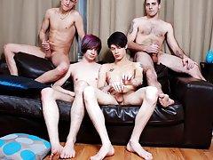 Group gay sex and men group masturbation at Staxus