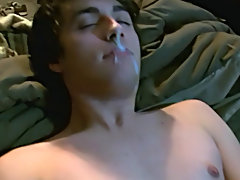 They stretch out side by side to jerk off before we acquire a POV shot of Lucas receiving a thick facial all over his lips amateur gay boys - at Tasty