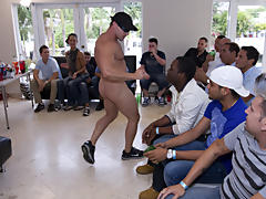 We've got the hottest dancers and the horniest lads all in one house today, and some shit is bound to go down male mutual masterbation group at S
