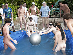 The winners of course were excempt from hell week but the losers had to pay the ultimate price male group masturbatio