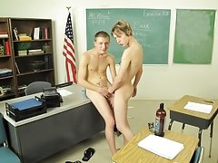 Alpha man fucks skinny twink and italian gay daddy and twink at Teach Twinks