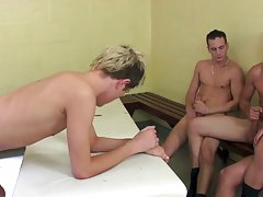 Twinks peeing and hairy naked dudes cumming - Euro Boy XXX!