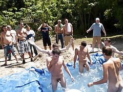 as punishment for losing these unfortunate pledges had to suck each their off in front of their brothers and fellow pledges old gay sex group
