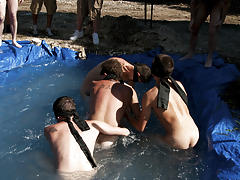There is nothing like a nice summer time splash, especially when the pool is man made and ghetto rigged as fuck gay oral group sex pics