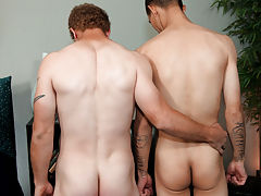 Male bondage blowjob and gay piss twinks