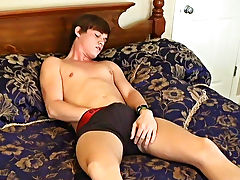 He rubs his crotch throughout his jeans and underclothing previous to pulling out his dick and starting to stroke twink guys series - at Boy Feast!