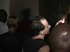 Sean and Todd are having a great time at this Gay College Sex Party episode, while they're getting screwed and sucked, the crowd is looking on, b