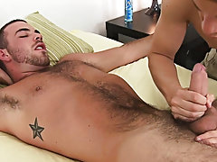 I enjoyed his boxers and slipped his man-meat out of the side to get my very first glance and stroke on that cock. I took my time working his uncircum