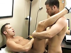 The desk squeaks along with Shane's moans as Tristan drills his ass with his thick dick gay bear tracks dvd at My Gay Boss