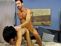 Gay young men sucking and multiple male orgasm facials at Bang Me Sugar Daddy
