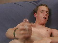 Without saying a word, Seth begins to masturbate and Justin follows shortly after gay boys first time at Teach Twinks