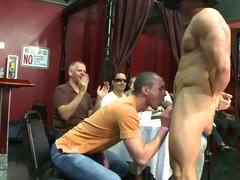 Toronto gay spanking group and gay male strip groups at Sausage Party