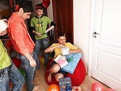 Group gay fuck and gay facial video group at Crazy Party Boys