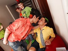 Group gay fuck and gay facial video group at Crazy Party Boys