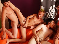 Men group masturbation and gay bj group at Crazy Party Boys