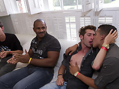 Free gay group sex videos and gay group handjobs at Sausage Party