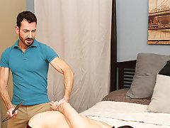When Bryan Slater has a stressful day at work, he comes home and takes it out on his little slave boy, Kyler Moss hardcore gay cock action at Bang Me