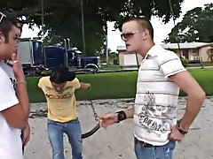 In this exceedingly hawt bareback movie scene we find two of hottest boys to ever cum from the D&E stable: Ajay and Chad Stevens gay gangbang bare