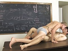 Kayden Daniels and Jae Landen have a large problem, they show up late to class and no one is there skinny gay twinks at Teach Twinks