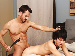 Fat man cumming while riding a fat dick and golden prague twink fuck at Bang Me Sugar Daddy