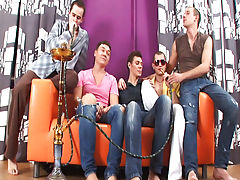 Mutual masterbation male groups and group sex one guy at Crazy Party Boys