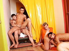 Gay nude groups and gay group at Crazy Party Boys