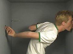 Twink gay boy pissing at Teach Twinks