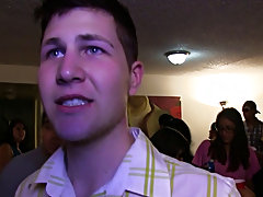 as the party was kicking off everyone was having joy those poor pledges where exposed and clothed in weird receive ups then rushed downstairs to join