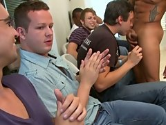 Dicks in mouths turned into dicks in asses and cum on faces gay group facials at Sausage Party