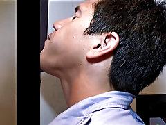 Twink cut big head blowjob and gay upside down blowjobs