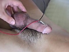 As soon as I had fondled his sweet package inside his undies I pulled it out and slowly took his white stretched underwear away male masturbation tech