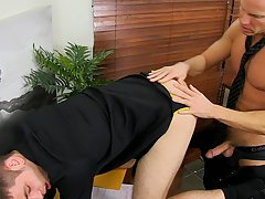 Black male anal and naked muscular punishment at My Gay Boss