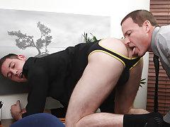 Porn fucking move download and muscular hung black man at My Gay Boss