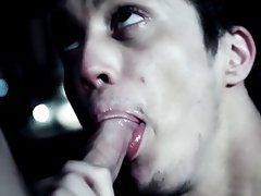 Brice returns the favor before the vampire flips him over to eat his ass asian boy first - Gay Twinks Vampires Saga!