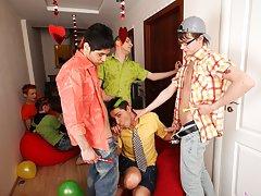 Teen jerking gay men group and san francisco gay tantric masturbation groups at Crazy Party Boys
