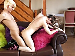 Blowing each other, before Max fucks Shayne doggy style young boys gay orgy at Homo EMO!