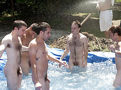 these poor pledges had to play blind folded in this hole in the ground filled with water san francisco gay tantri