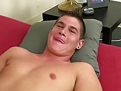 Bubble butt gay twink bottoms fucked raw and straight guy cums in gay mouth at Straight Rent Boys
