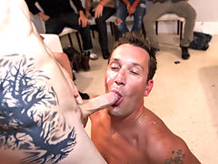 Male tickling groups and gay sex group at Sausage Party