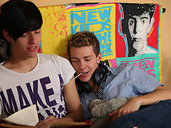 Man twink gay porno and twink moans while getting fucked by a huge dick
