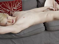 Shaved smooth twink tubes and my first gay huge cock at Staxus