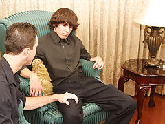 Jacob cums while sitting on his knob in advance of getting on the floor to let Danny shoot his load all over his back free pictures of gay twink at My